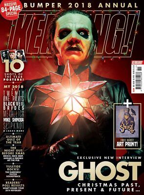 Kerrang 1753 22nd December 2018 Tobias Forge Ghost cover