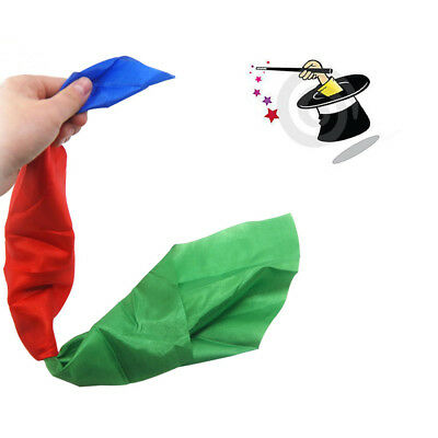 Stage Close Up Magic Trick Prop Color Changing Silk Hanky Diagonal Street Magic