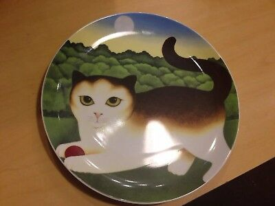 Dept 56 Abednigo Cat Plate Decor By Martin Leman