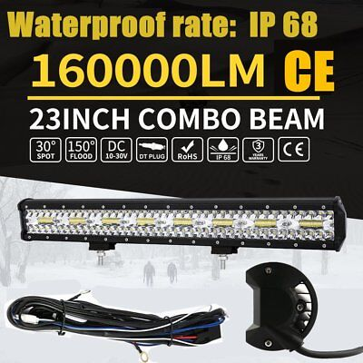 23inch LED Light Bar Flood Driving Lamp Offroad for 4WD 4x4 Truck JEEP SUV L@