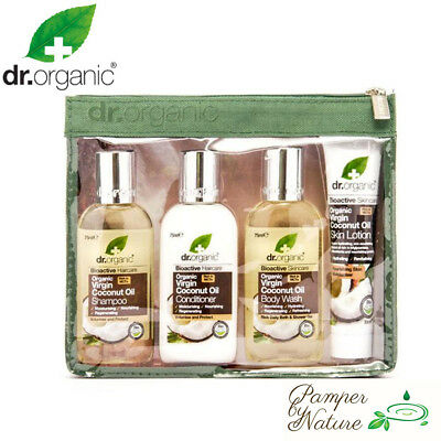 Dr Organic Virgin Coconut Oil Mini Travel Pack includes 4 mini products
