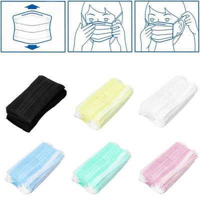 Healthy 50x Anti-Dust Disposable Surgical Medical Salon Earloop Face Mouth Mask