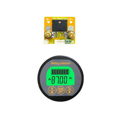 Battery Indicator 4in1 DC 80V50A SOC AH VOLT AMP Capacity Tester State of Charge