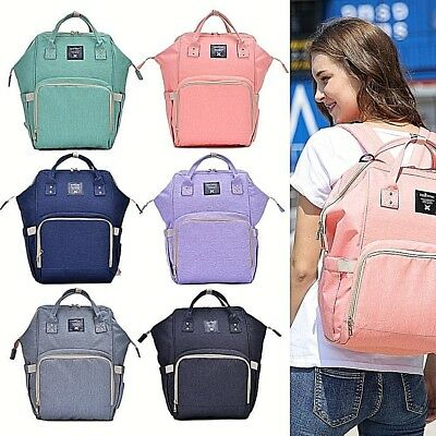 Multi-functional Baby Diaper Backpack Changing Bag Pouch Nappy Mummy Waterproof