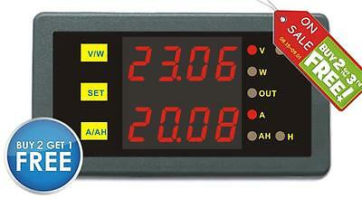 Battery Monitor DC 200V 50A Voltmeter Ammeter Charge Discharge Status Tester