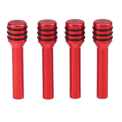 4x Universal Car Interior Door Lock Knobs Aluminum Handle Pull Pin Trim Red