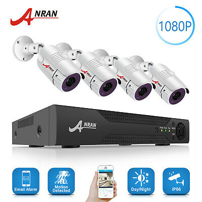 ANRAN 1080P CCTV Security Camera Home Outdoor IP System HDMI 4CH 5in1 Video DVR