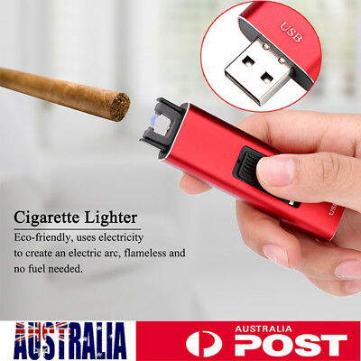 AU Lighter Electric Rechargeable Dual Arc Usb Windproof Flameless Plasma Torch