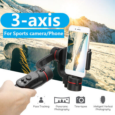 3-Axis Handheld Gimbal Stabilizer 360° Light Weight For Phone Action Camera Vlog