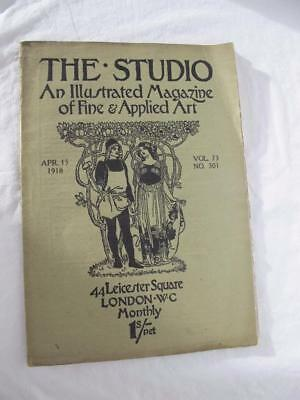 Antique The Studio An Illustrated Magazine Of Applied Art Vol 73 No 301 Apr 1918