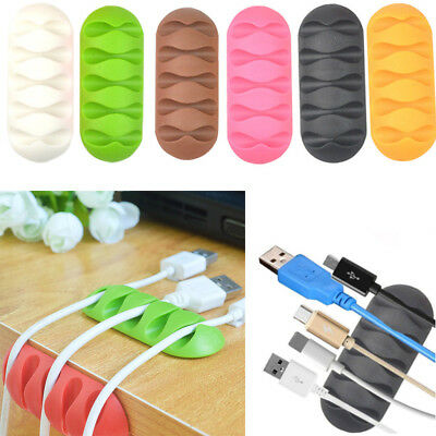 Cable Reel Cord Line Tie Fixer Organizer Charger Desktop Clip Wire Holder