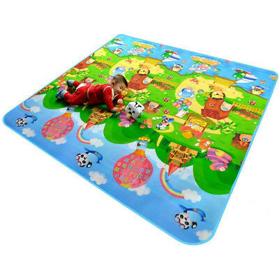 Child Infant Baby Kids Crawling Game Waterproof Floor Play Mat Rug Double-Side Z