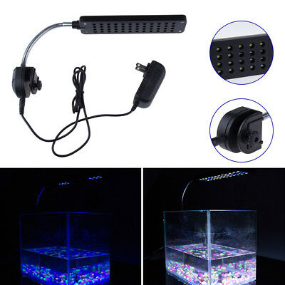 Flexible 24/48 LED Aquarium Light Arm Clip on Plant Grow Fish Tank Lighting Lamp