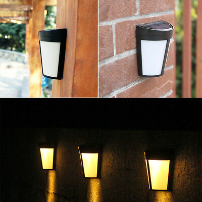 6 LED Solar Power Wall Mount Light Outdoor Garden Path Way Fence Yard Patio Lamp