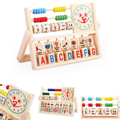 Kids Boy Girl Baby Learning Early Educational Development Abacus Wooden Toys CHZ