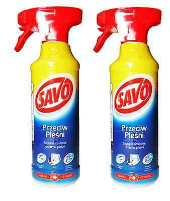 2 x SAVO AGAINST MILDEW,ALGAE & YEAST REMOVAL, P&P - FREE