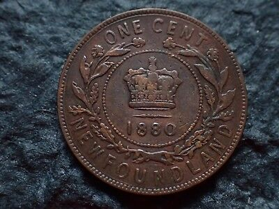 1880,   One cent,  Newfoundland,  ,   Free shipping  in Canada