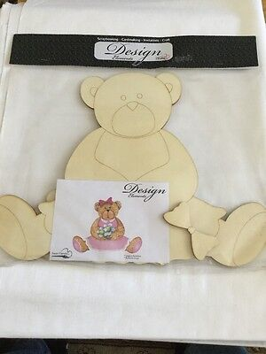Wooden Teddy Bear Ready To Decorate
