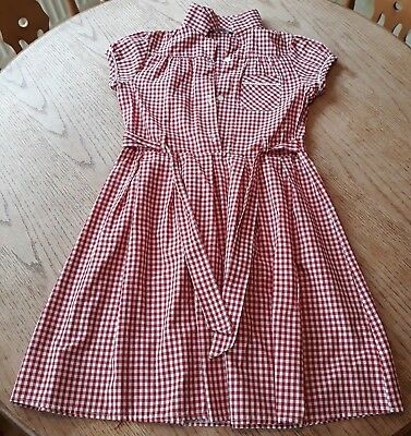 80122cbd1554 GIRL S RED GINGHAM school dress from George age 8-9 years - £3.99 ...