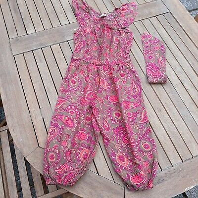 Girl's Monsoon paisley jumpsuit age 3-4 years