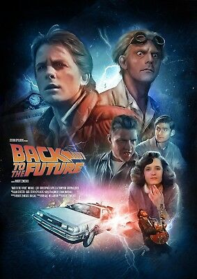 Art Print Poster / Canvas BACK TO THE FUTURE SPIELBERG MOVIE 4