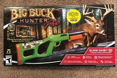 Sure Shot HD Big Buck Hunter Pro Video Game System 2day Delivery