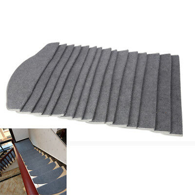 5/13 pcs Carpet Stair Tread Mat Staircase Non-slip Adhesive Protection Cover Pad