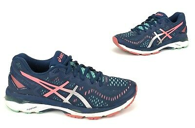 c435b6a40731aa Asics Womens Gel Kayano 23 Running Shoes Sz 7 Navy Blue Silver Athletic  T696N