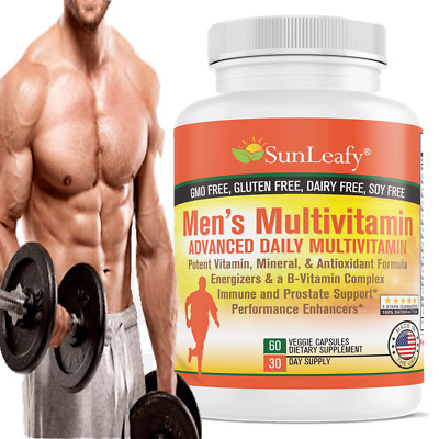 Men's Multivitamin Energy, Prostate, Muscle, Sexual Health   Non-GMO Supplements