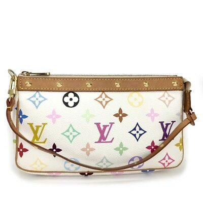 69bfb44a586a Louis Vuitton Monogram Multicolor Pochette Accessories Pouch Hand Bag  dd982