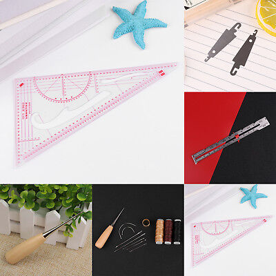 Leather Craft Repair Tools Punch Stitching Carving Working Sewing Saddle Groover