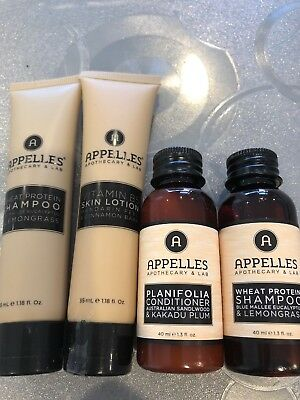 Appelles Travel Kit Shampoo Conditioner Skin Lotion (150ml) FREE POSTAGE
