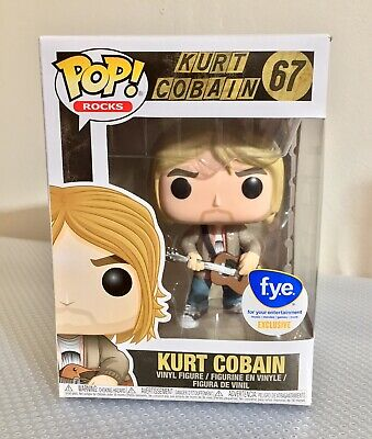 Funko Pop! Rocks KURT COBAIN #67 NIRVANA MTV Unplugged FYE Exclusive & Protector