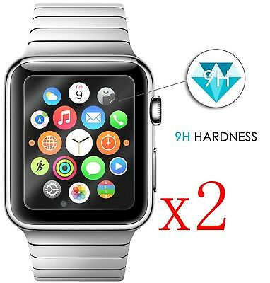 2xFor Apple Watch Series 4 NOT Full Cover Tempered Glass Screen Protector 40/44m