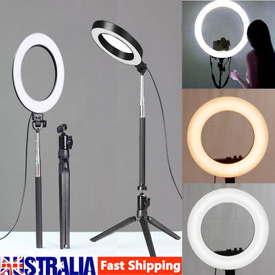 "13"" 5500K Dimmable Diva LED Ring Light SMD Diffuser Mirror Stand Make Up Studio"