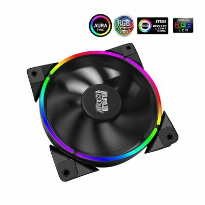 PCCOOLER 12cm RGB Light PC Cooling Fan 4 Pin PWM Quiet PC Case Chassis FanHZ