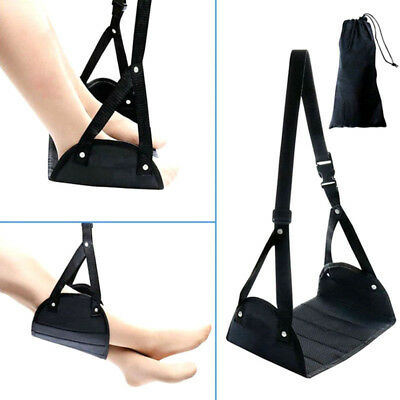 Memory Foam Airplane Footrest Travel Relaxation Carry-On Foot Rest Hammock NEW