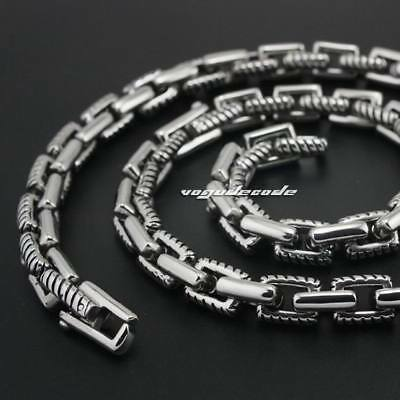 """316L Stainless Steel Mens Biker Punk Chunky Necklace Link Chain 5M005NB 18""""~36"""""""