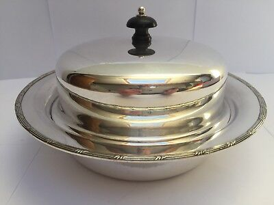 Vintage James Dixon, Sheffield, Silver Plated 3 Piece Muffin Dish c.1930's VGC