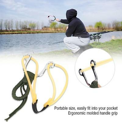 Outdoor Powerful Steel Catapult Slingshot Metal Hunting Games Sling Shot Gift