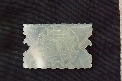 Antique Chinese Mother Of Pearl Sewing Thread Cotton Winder / Gaming Counter (1)