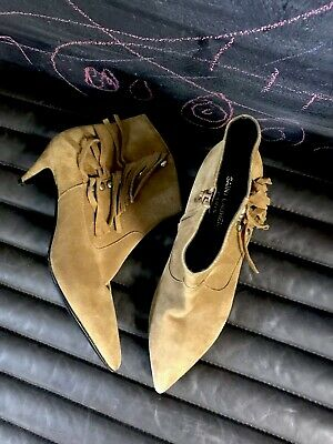 fb81dd35 YSL YVES SAINT Laurent 741216 $1150 Brown Suede Boots Holiday Sz ...
