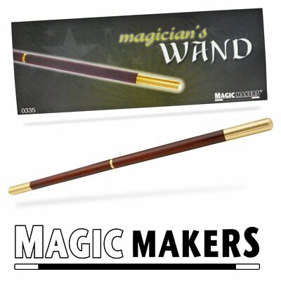 Magic Makers Magician Pro Wand - Brown with Metal Tips