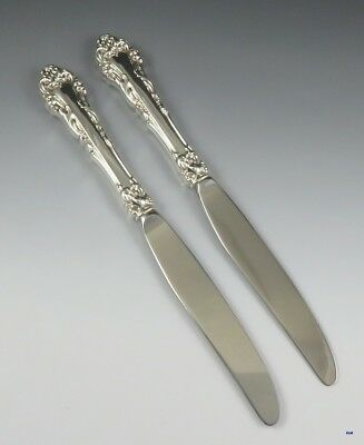 Pair Fine Quality Reed & Barton Grande Renaissance Sterling Silver Knives