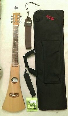 Martin Backpacker Guitar With Nylon and Steel Strings Setup