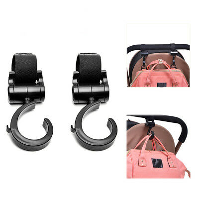 2pcs/Lot Baby Hanger Bag Stroller Hooks Pram Rotate 360 Cart Hook Accessories