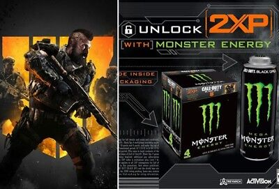 Call of Duty Black Ops 4 Monster Energy Code  1 Hour 2XP Double experience XP