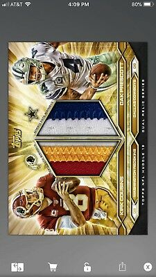 2018 Topps Huddle Gold Relic 7 card lot (50cc)