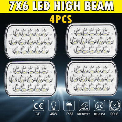 4PCS LED Headlight H6024  High Low Beam Fit For Freightliner FL 50 60 70 80 112