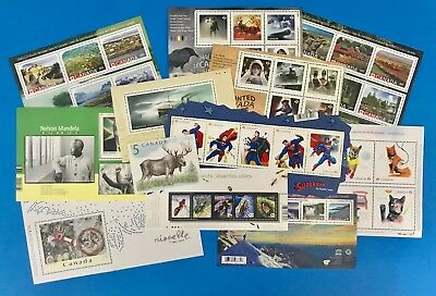 Canada Souvenir Stamp Collection 12 Sheets Mint-NH Bundle Over $50 Face Value!!